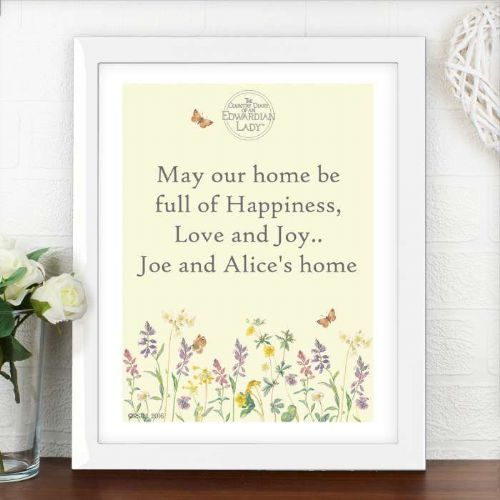 Personalised Country Diary Wild Flowers White Poster Frame